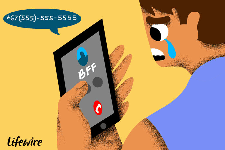 Illustration of a sad person looking at a BFF on a phone