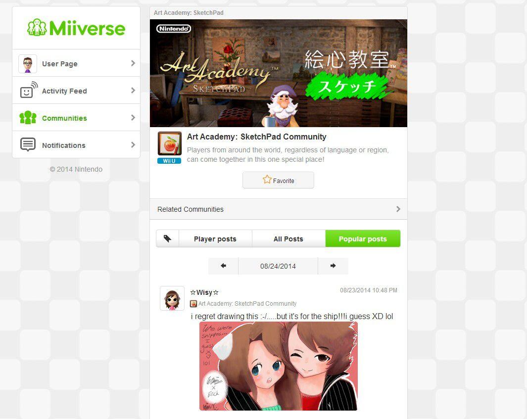 miiverse page