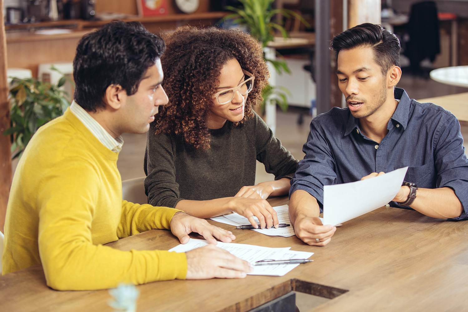 Couple on meeting with financial advisor