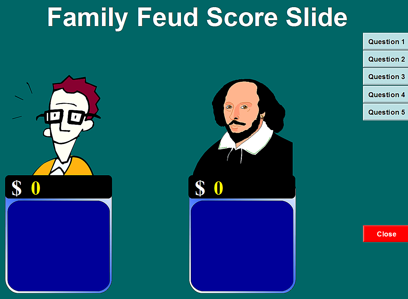 Family Feud Power Point Template | 6 Free Family Feud Powerpoint Templates For Teachers