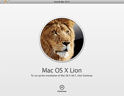 Upgrade Install of Lion