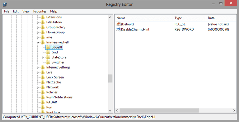 Windows 8 registry hacks