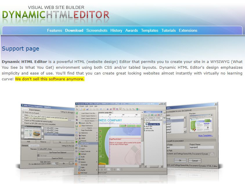 Free WYSIWYG HTML Editors for Windows