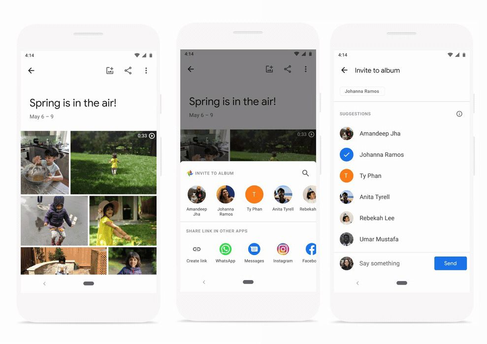 Direct sharing in Google Photos