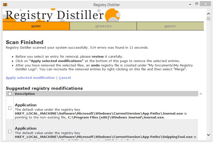 Registry Distiller v1.03 Registry Cleaner