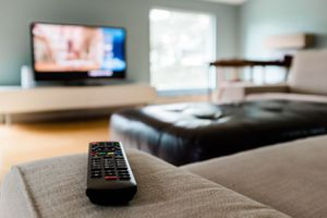 Image of a remote and a TV set