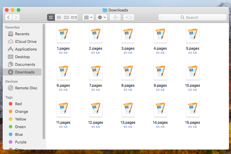 PAGES files