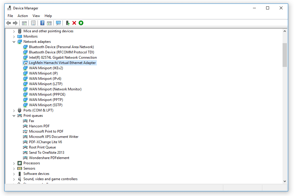 Black Arrow in Windows 10 Device Manager