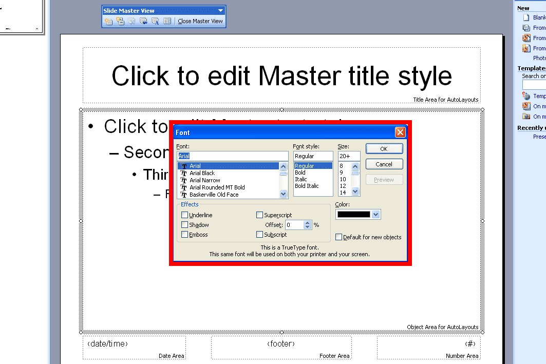 Powerpoint 2003 Create Custom Design Templates And Master Slides