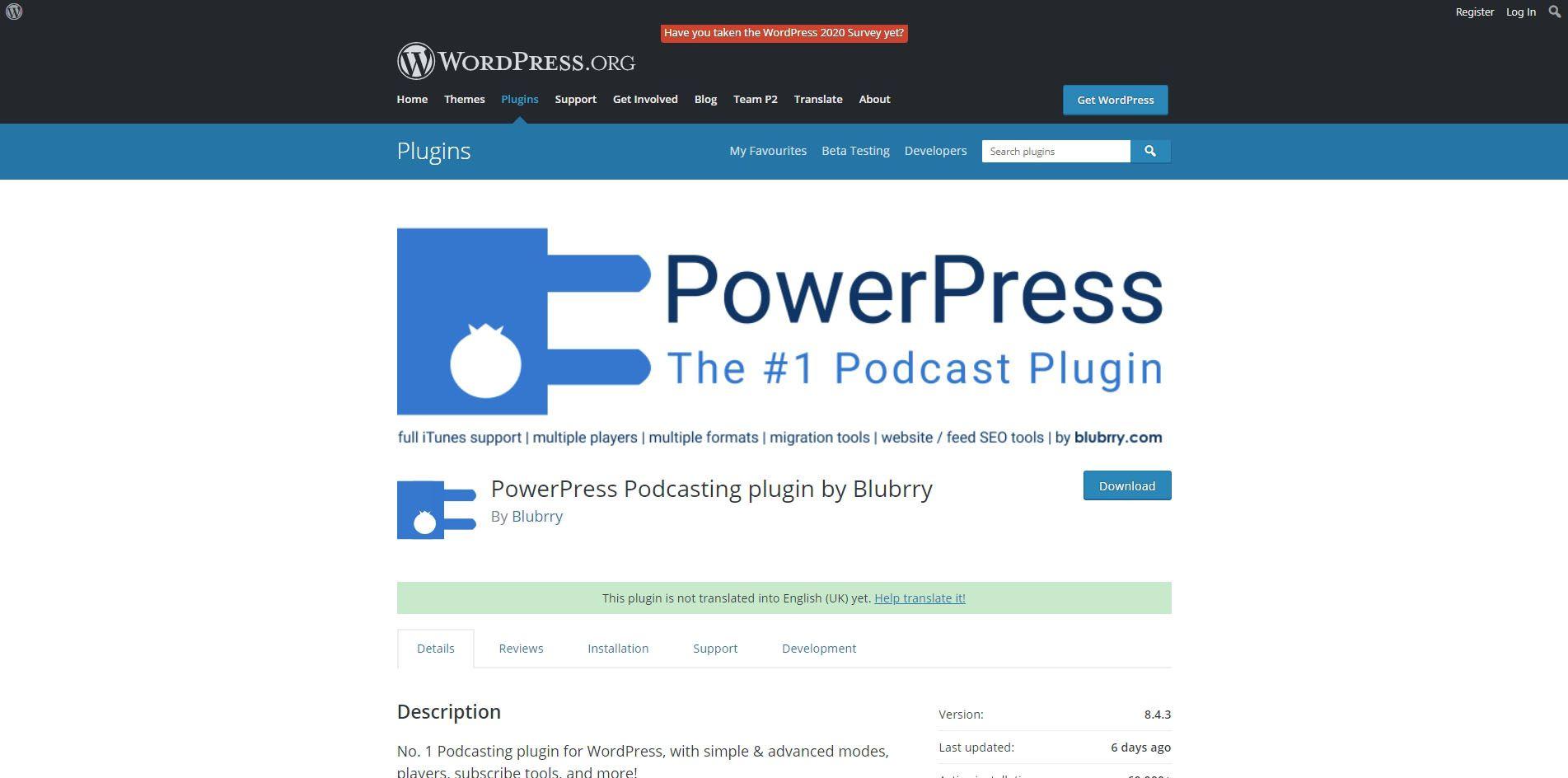 PowerPress plugin.