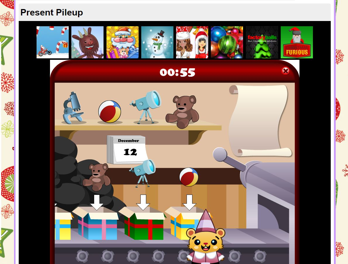 The game Present Pileup