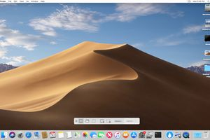 macOS Mojave with screenshot toolbar displayed.