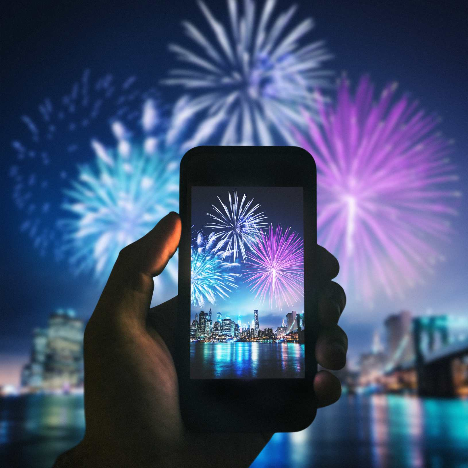 Taking pictures of fireworks using an iPhone