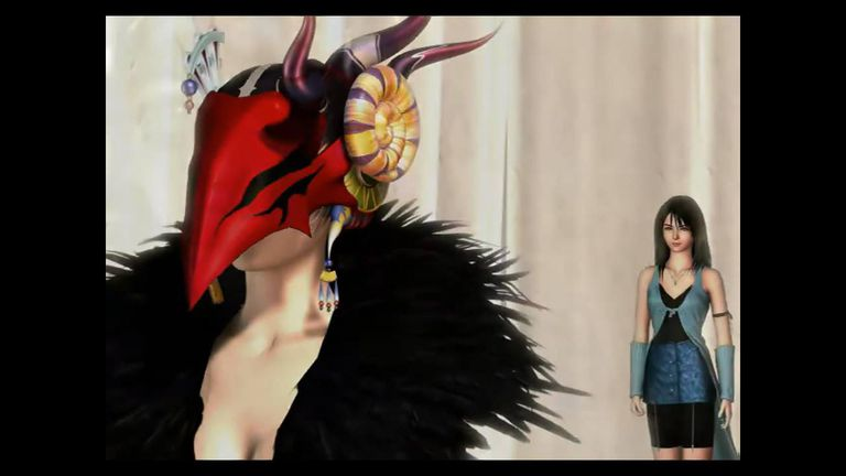 Rinoa stands behind Edea in Final Fantasy VIII HD Remaster for Switch.