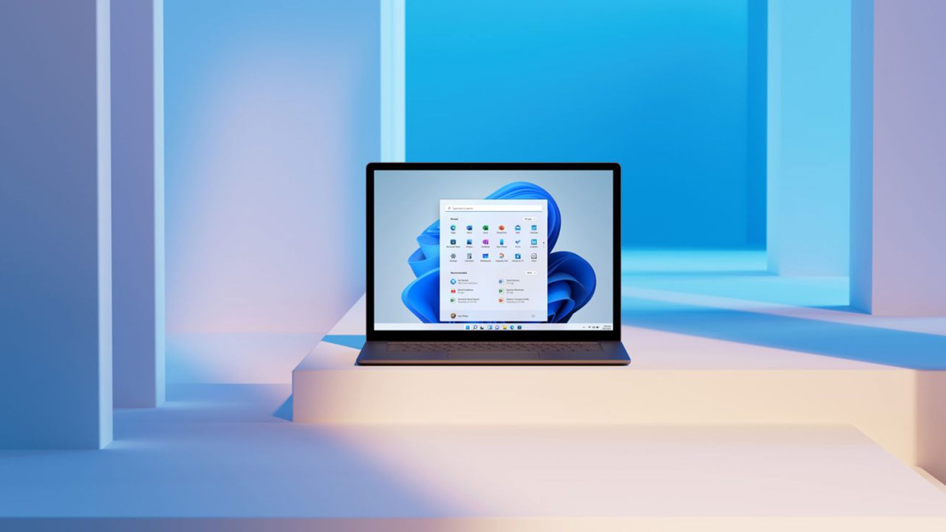 Windows 11 running on a laptop