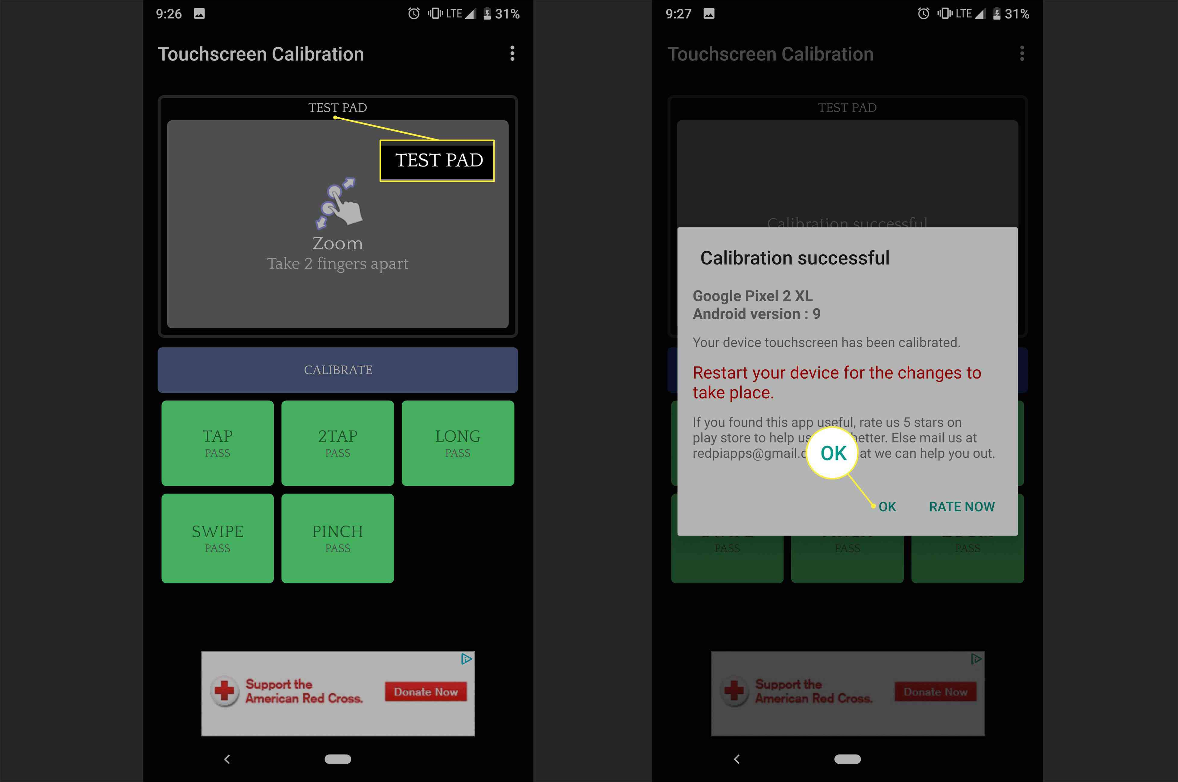 How to use Calibration on an Android phone
