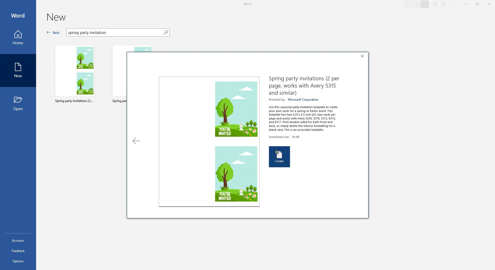 Foldable Easter Egg Hunt Invitaiton Template for Microsoft Word