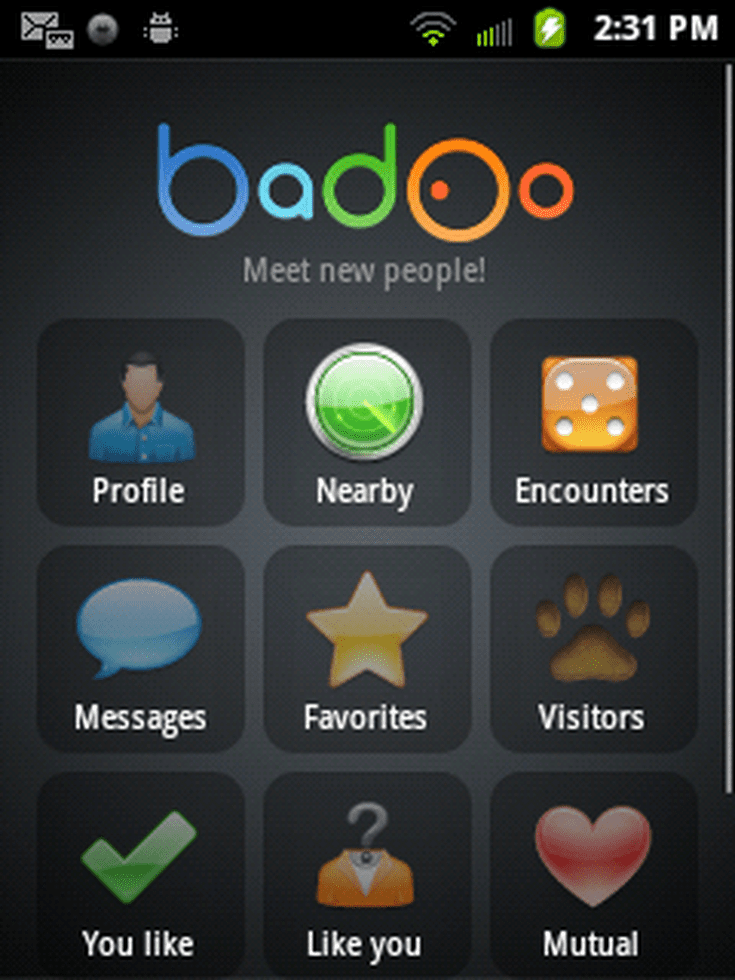 how to logout of badoo app