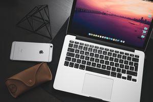 Macbook next to iPhone