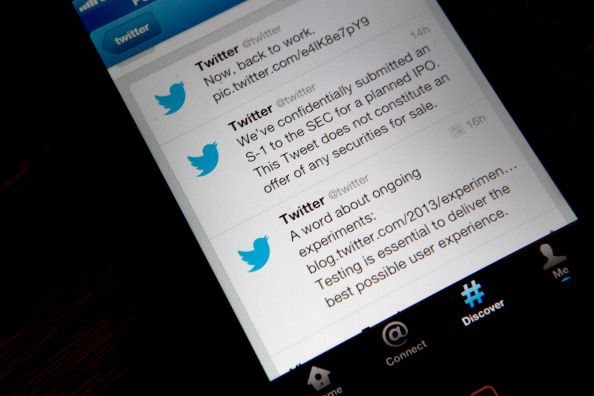 Twitter app on a smartphone