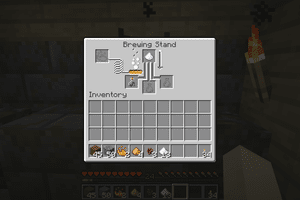 Brewing a Swift Potion in Minecraft.
