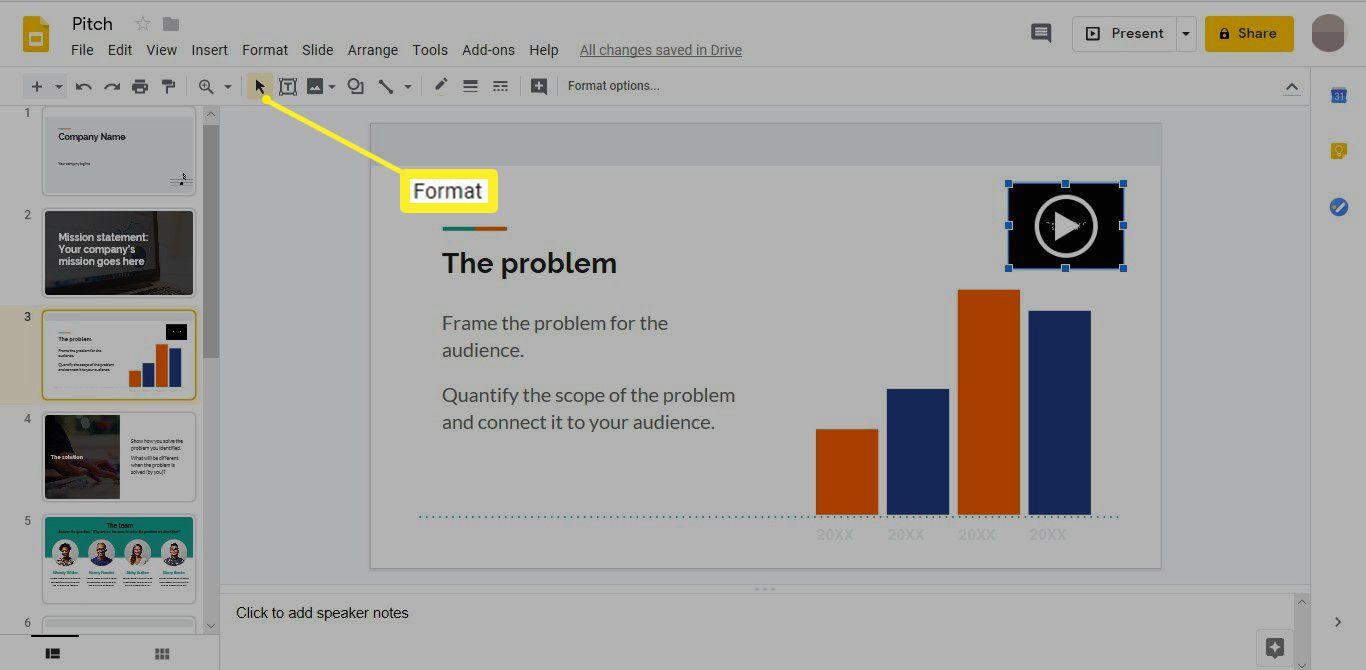 Format in Google Slides