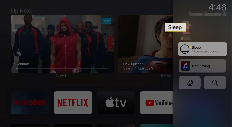 Sleep option on Apple TV