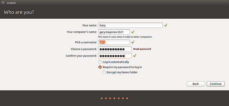 Encrypting the home folder in Ubuntu