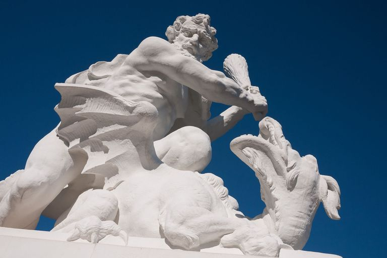 Hercules fighting a dragon