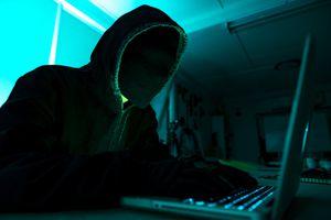Hacker in hoodie