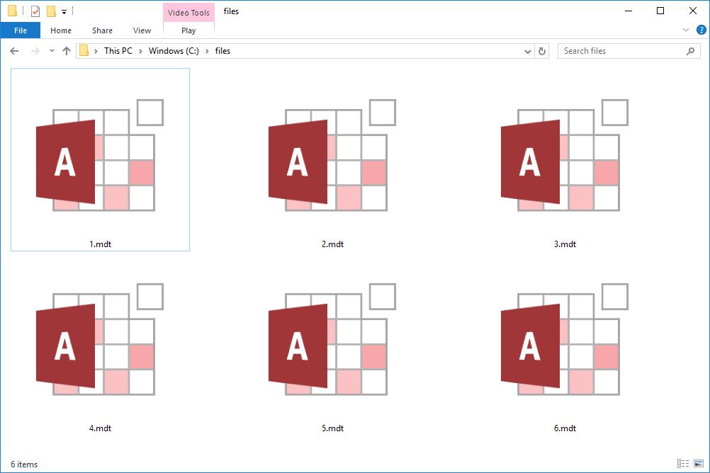 MS Access MDT files in a folder
