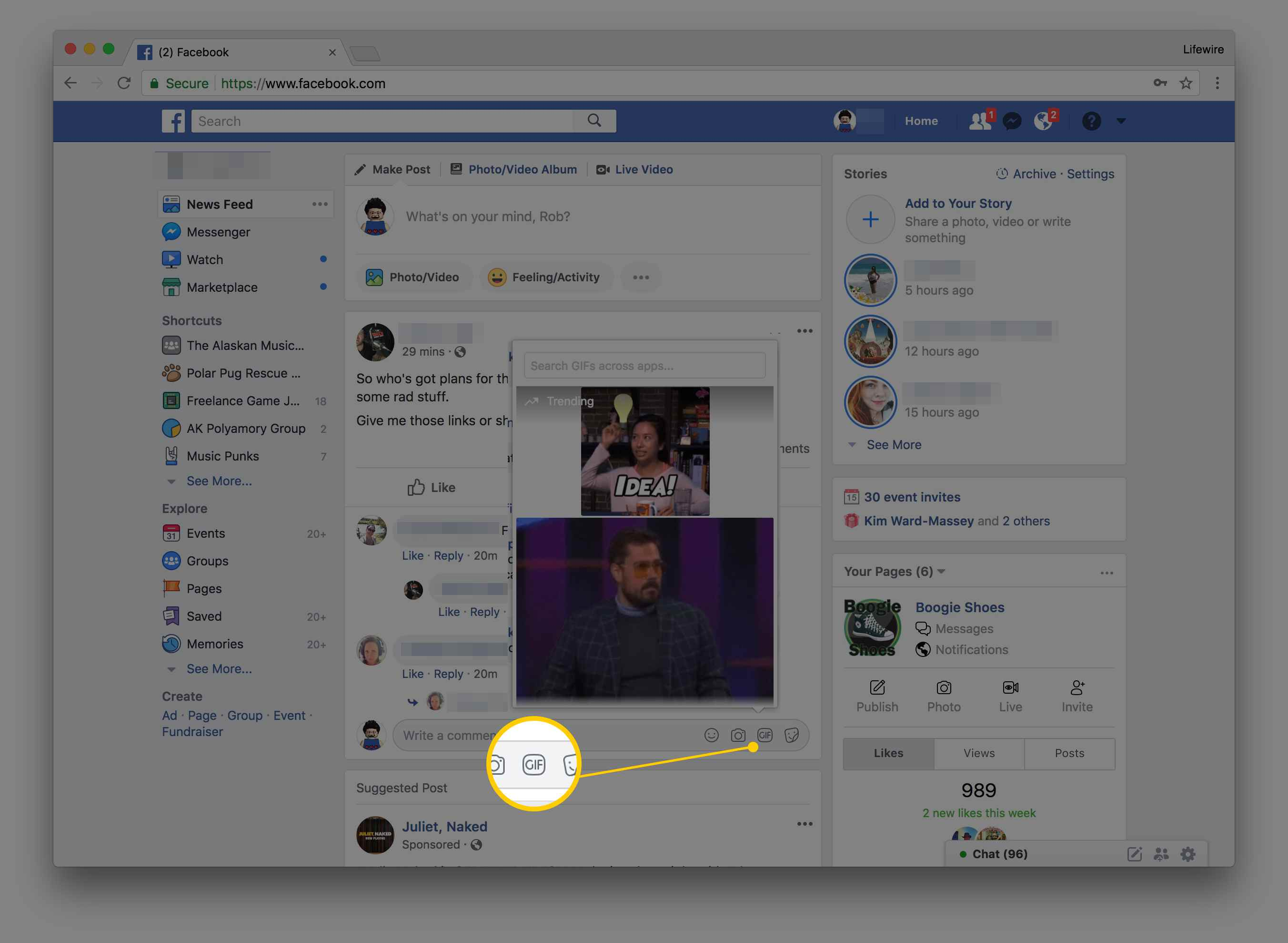 here s how you can post gifs on facebook