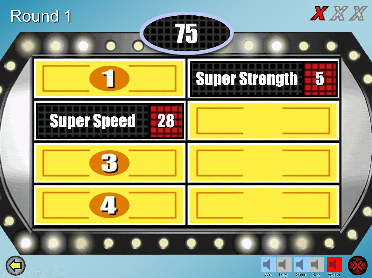 Realistic Family Feud Point Template