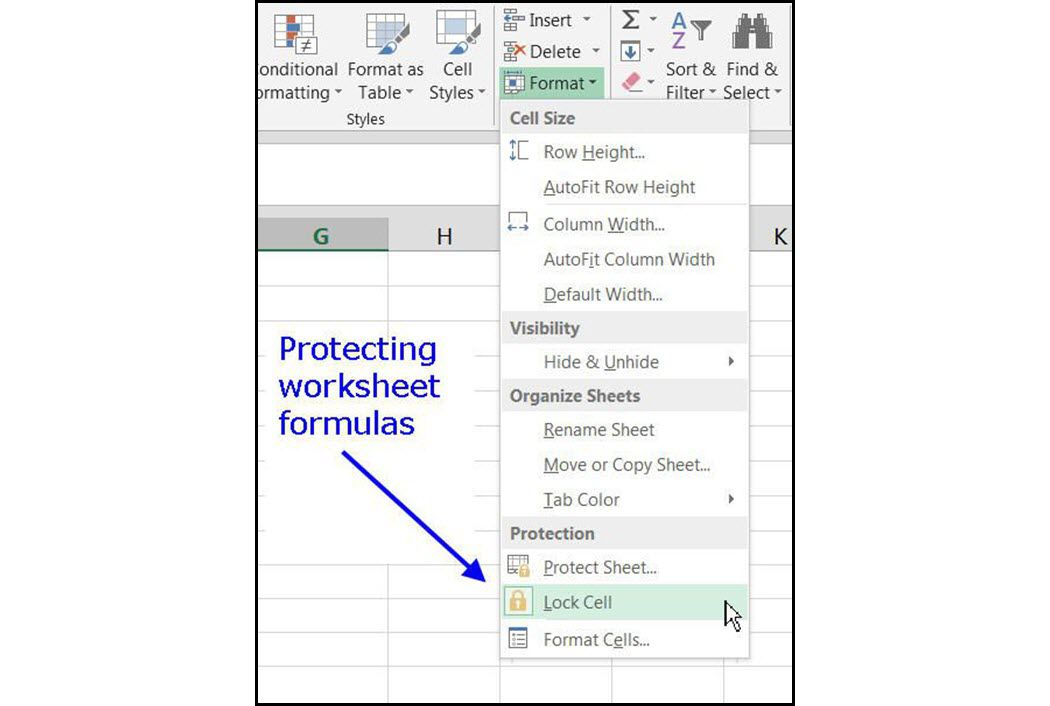 Locking Cells and Protecting Worksheet Formulas in Excel
