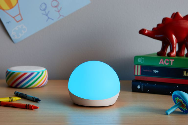 Amazon Echo Glow near toys
