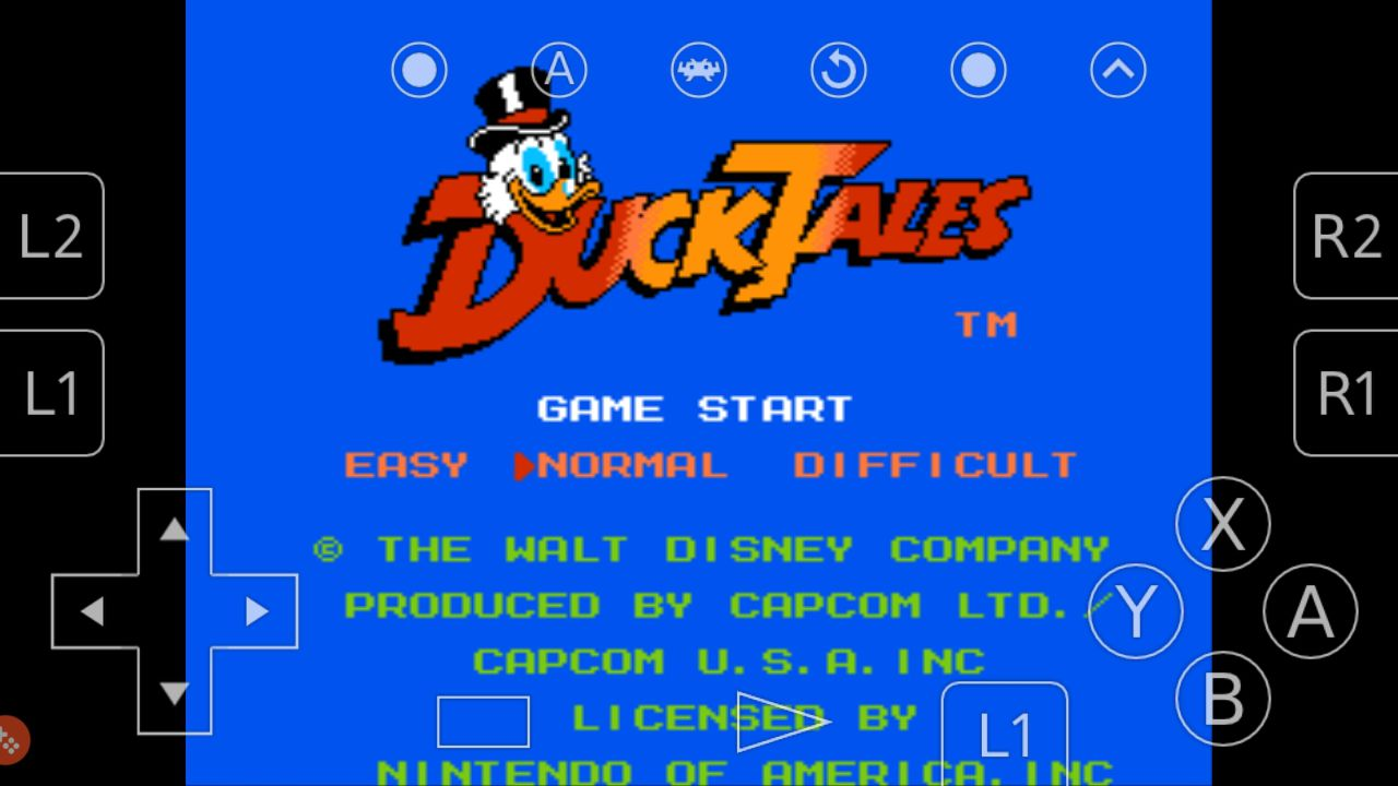 Duck Tales for NES running on Retroarch for Android