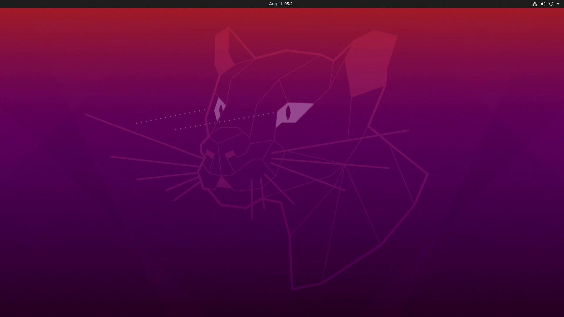A screenshot of Ubuntu loading.