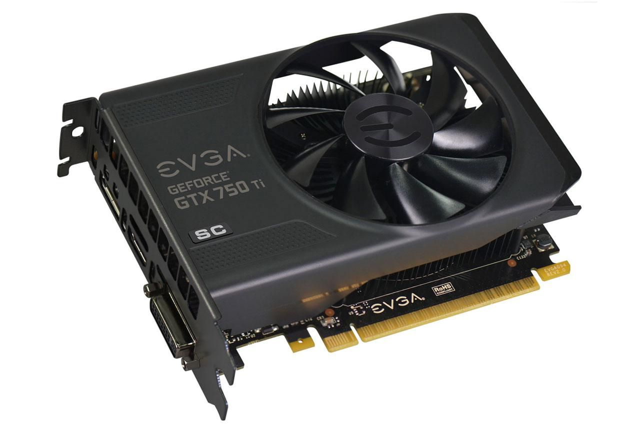 EVGA GeForce GTX 750 gaming component.