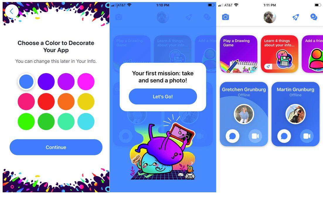 setting up Messenger Kids app.