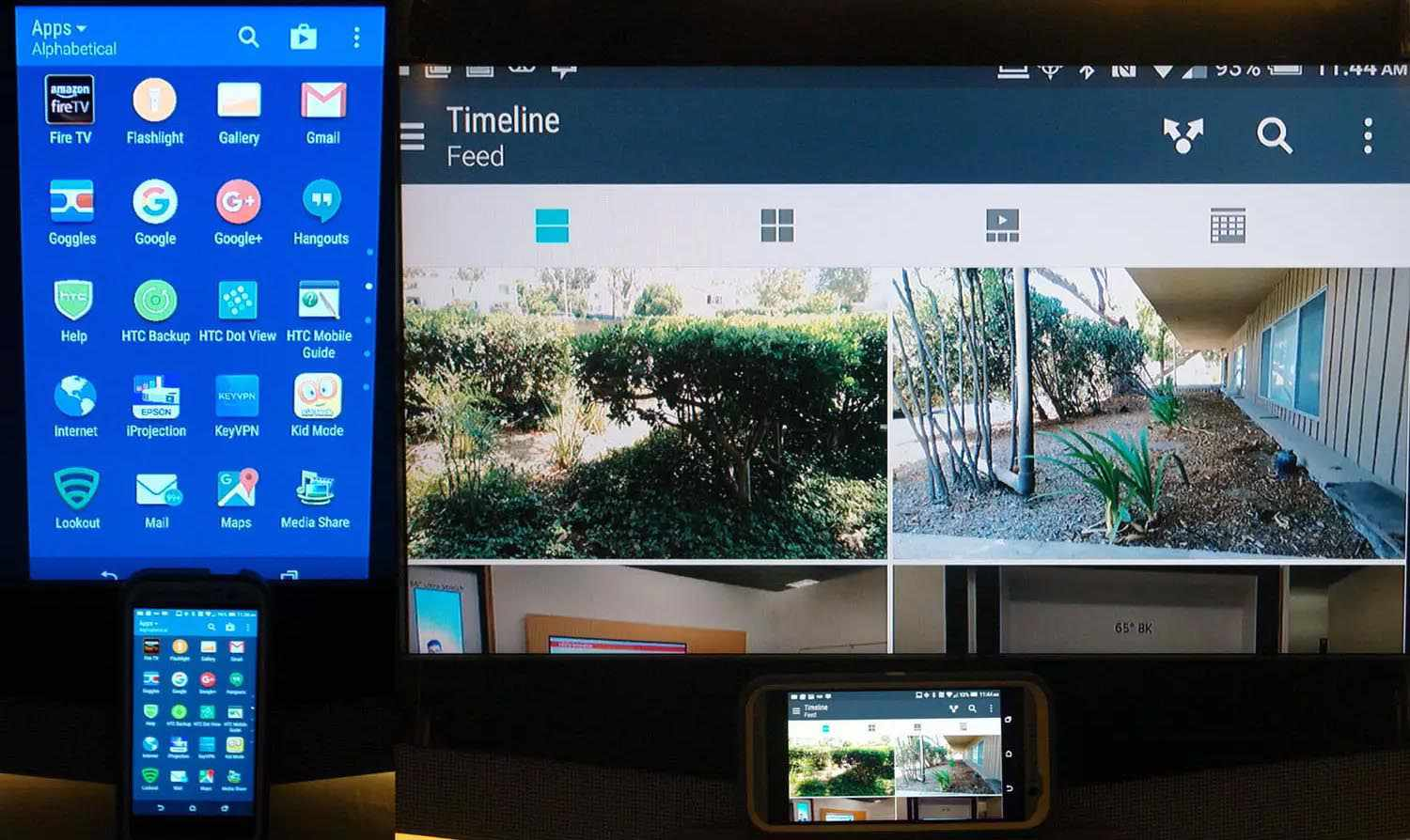 Android Screen Mirroring to TV Examples via Fire TV