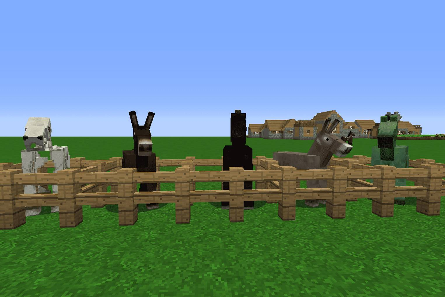 Minecraft Animals Explained Horses Donkeys And Mules