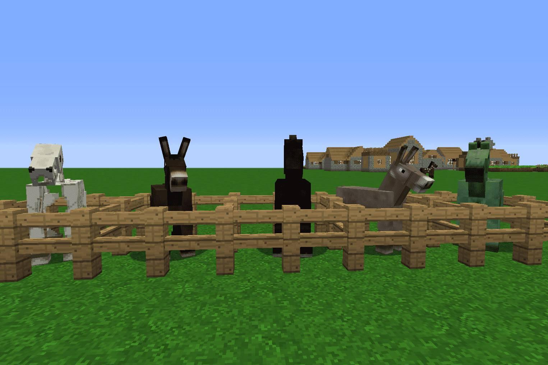 Minecraft Animals Explained: Horses, Donkeys and Mules