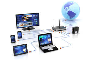 A router controlling a network of devices