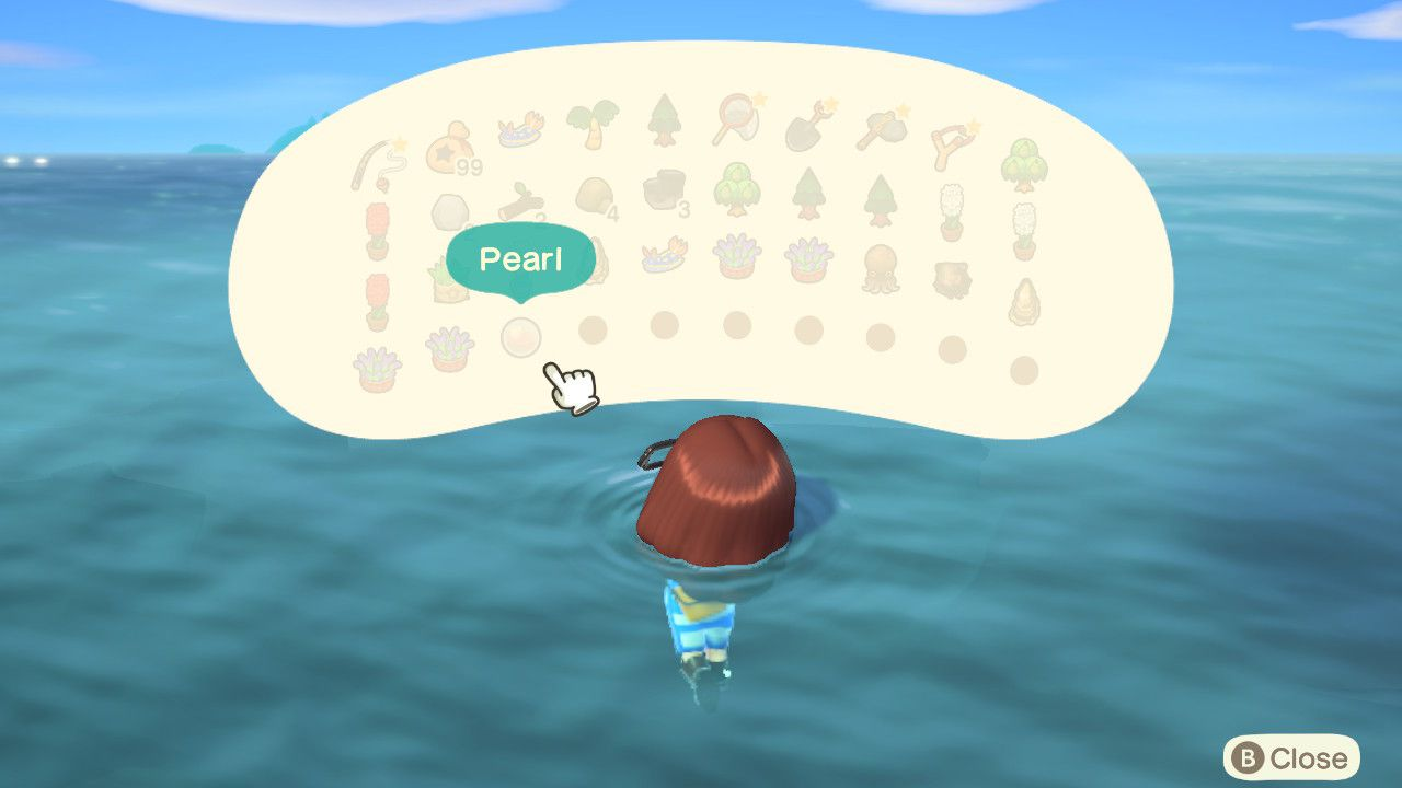 A pearl in Animal Crossing.