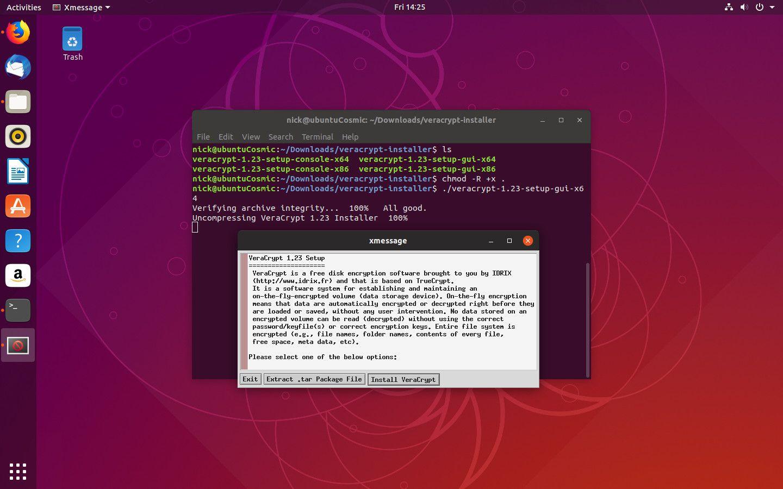VeraCrypt installer on Linux