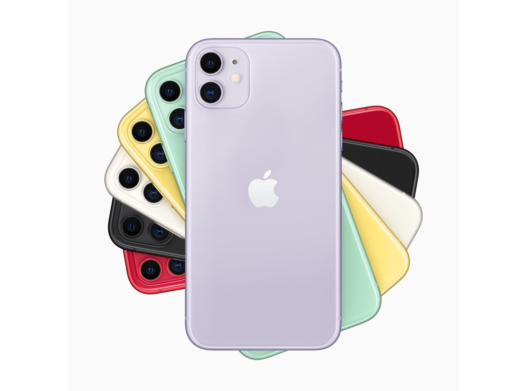 The six colors of the iPhone 11