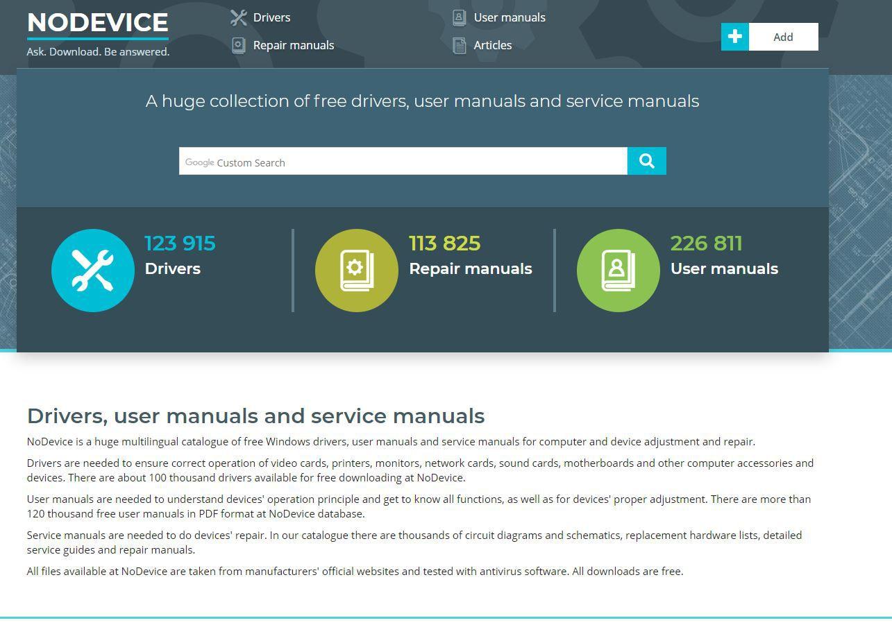 Screenshot of NoDevice.com