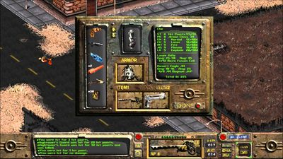 Screenshot from the original Fallout game