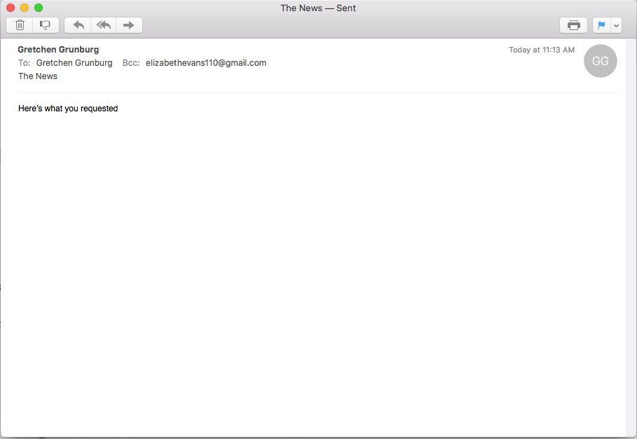 Automatic BCC has been set in Apple Mail