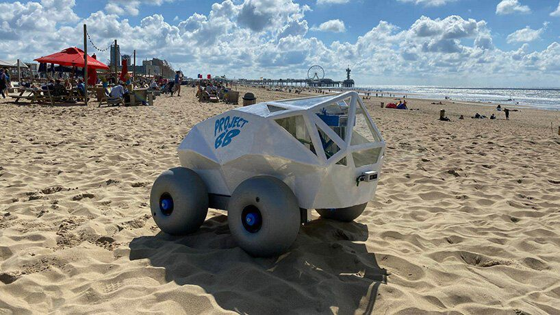 The BeachBot on a beach.